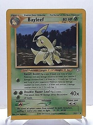 Bayleef 29/111 Pokemon Neo Genesis Grass Uncommon Damaged Used See Pictures