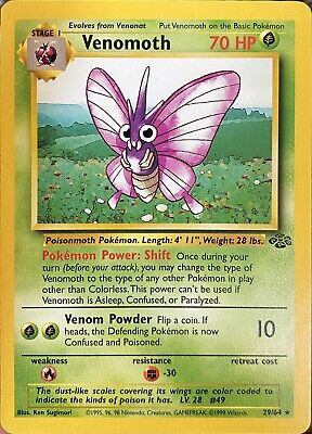 1999 Pokemon Venomoth Jungle Set 29/64 Rare Mint - Unplayed