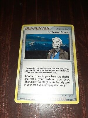Professor Rowan 112/130 Holo Diamond & Pearl Pokemon Card Near Mint