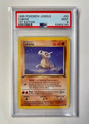 1999 Pokemon 1st Edition Jungle Cubone #50 / 60 PSA 9 MINT - Clean+ Fresh Grade!