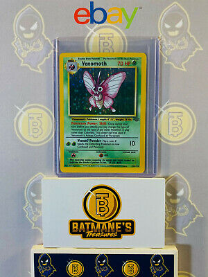 Venomoth 13/64 NM Near Mint Jungle Set 1999 Holofoil Rare Holo Pokemon Card