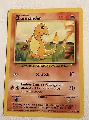 Pokemon Charmander 46/102 Base Set  Mint WOTC