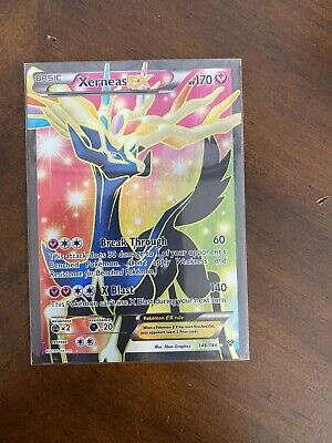 [MINT] Xerneas EX 146/146 Ultra Rare Full Art Holo Pokemon XY Base Set