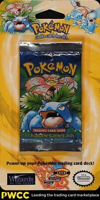 1999 Pokemon Base Set Sealed Long Crimp Blister Pack, Shadowless Venusaur Art