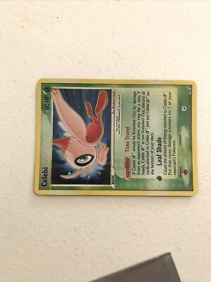 Pokemon Ex Crystal Guardians Gold Star Ultra Holo Celebi 100/100 Moderate Play
