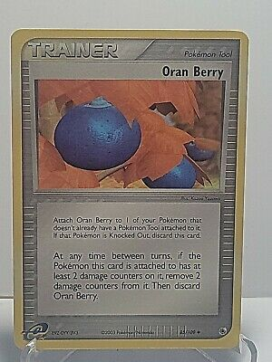 Oran Berry 85/109 Pokemon LP EX Ruby Sapphire Tool Used See Pictures