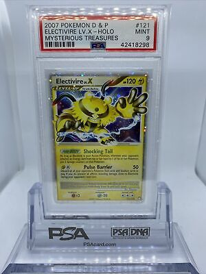 Pokemon Diamond & Pearl Mysterious Treasures PSA 9 Electivire LV X 121/123