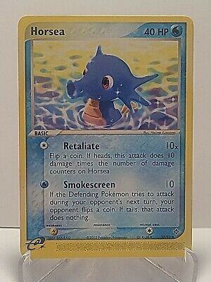 Horsea 33/97 Pokemon EX Dragon Water Uncommon LP Used See Pictures