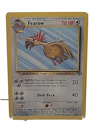 Fearow 36/64 Pokemon Jungle Set Colorless Uncommon LP Used See Pictures