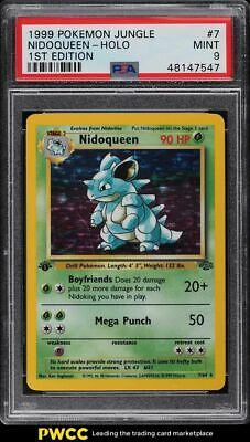 1999 Pokemon Jungle 1st Edition Holo Nidoqueen #7 PSA 9 MINT