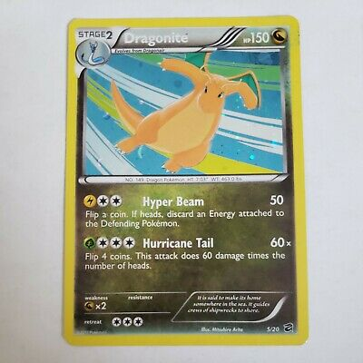 Pokemon Card Holo Rare Dragonite 5/20 Dragon Vault 2012