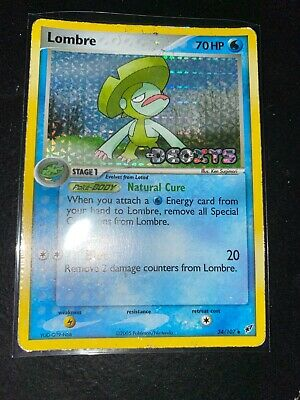 Pokemon Card - Lombre - 34/107 - EX Deoxys Uncommon Holo Stamped Heavily Played