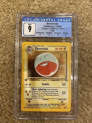 1999 POKEMON JUNGLE ELECTRODE First 1st Edition HOLO CGC 9 2/64