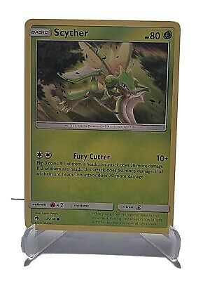 Scyther 3/214 Pokemon Lost Thunder Grass Common LP Used See Pictures