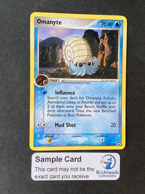 Omanyte 56/108 Common | Ex Power Keepers | Pokemon Card