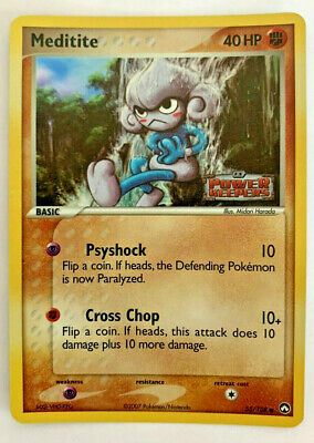 MEDITITE - 55/108 - Power Keepers - STAMPED HOLO Pokemon Card - 2007 - NM