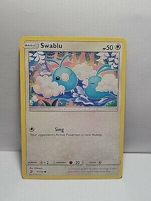 Swablu 57/70 Pokemon TCG Dragon Majesty Common Colorless LP Used See Pictures