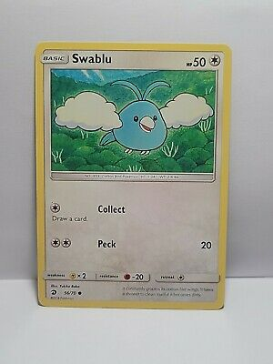 Swablu 56/70 Pokemon TCG Dragon Majesty Common Colorless LP Used See Pictures