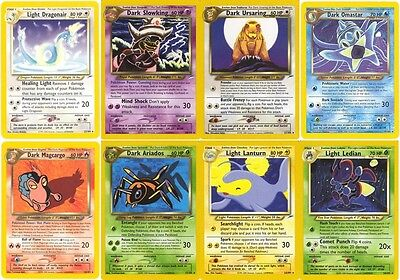 Pokemon cards. Neo Destiny set. Dragonair Machamp Chansey Haunter Flareon etc.