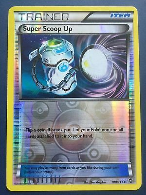 Pokemon Trainer Super Scoop Up 100/111 Reverse Foil Nm Card Furious Fists