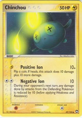 Pokemon CHINCHOU 49/108 COMMON NM CARD  POWER KEEPERS