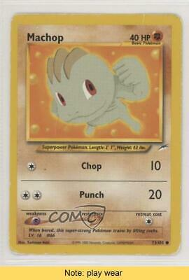 2002 Pokemon Neo Destiny Unlimited Machop #73 READ 0f8