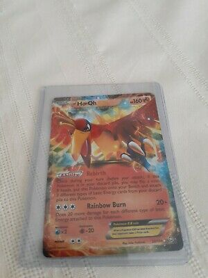 HO-OH EX 22/124 Ultra Rare Pokemon Holo Foil Dragons Exalted Card