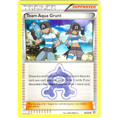 Pokemon  Trainer Team Aqua Grunt 26/34 Uncommon Nm Card  Double Crisis