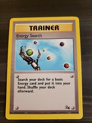 Pokemon Fossil Energy Search Single Card