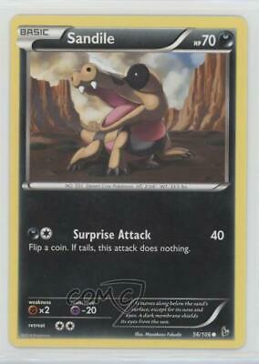 2014 Pokemon XY - Flashfire Expansion Set Sandile #56 01dr