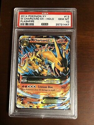 2014 PSA 10 Pokemon XY M Charizard Ex-Holo Flashfire Gem Mint #13