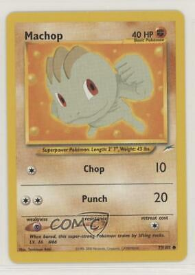 2002 Pokemon Neo Destiny Unlimited Machop #73 0f8