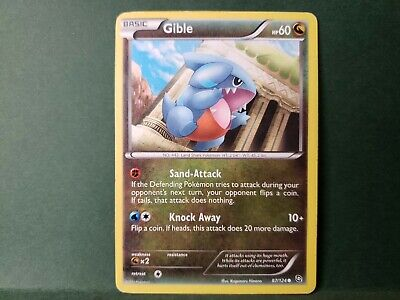 Pokemon Dragons Exalted Gible Single Card Common