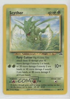 2001 Pokemon Neo Discovery Unlimited Scyther #46 01dr