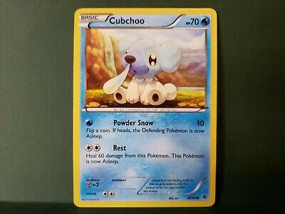 Pokemon Emerging Powers Cubchoo Single Card Common