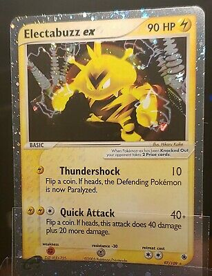 Electabuzz ex Ruby and Sapphire Ultra Rare 2003 Vintage Pokemon Card 97/109