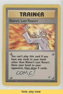 1999 Pokemon Gym Heroes Unlimited Blaine's Last Resort #105 READ 07ns