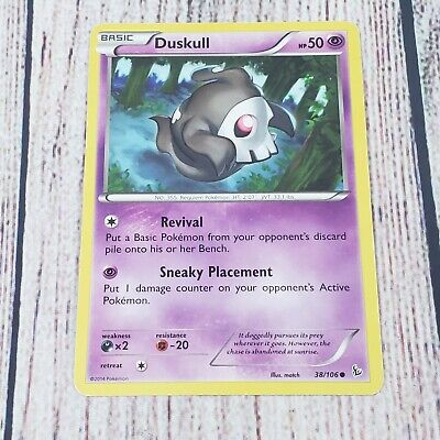 2014 Pokemon Duskull  XY Flashfire Expansion Set 38/106