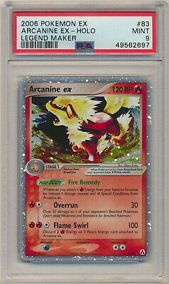 PSA 9 Pokemon Legend Maker Holo Rare Arcanine EX 83/92 MINT!!