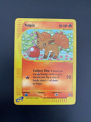 Vulpix 116/147 Common Reverse Holo Aquapolis 2002 Near Mint Pokemon Card