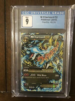 Pokemon CGC 9 M Charizard EX 69/106 XY Flashfire Mint Graded (PSA BGS)