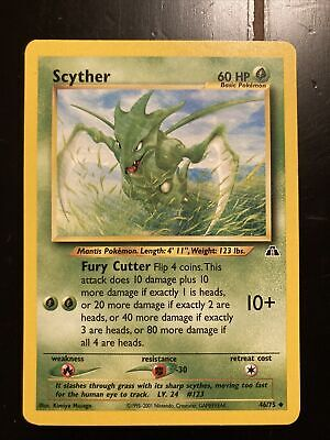 Scyther 46/75 Neo Discovery Pokemon Card EX/MP