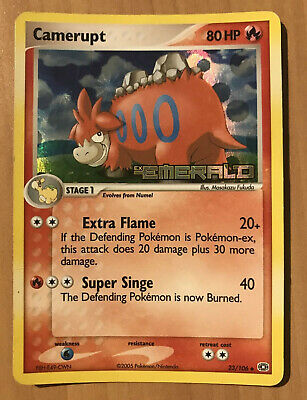Pokemon Card - Camerupt 23/106 - Holo Near Mint Stamped Ex Emerald 2006 - NM