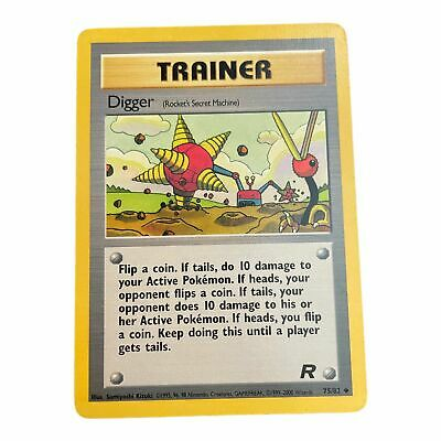 Pokemon Card Digger 75/82 Team Rocket Uncommon NM (Near Mint) Condition