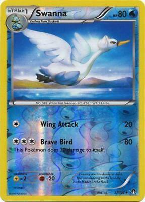 Pokemon SWANNA 37/122 UNCOMMON REVERSE HOLOFOIL NM CARD  BREAKPOINT
