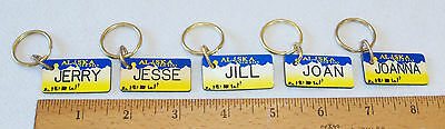 Брелок PERSONALIZED ALASKA LICENSE GIFT TAG/KEYRING