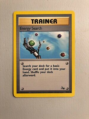 Pokemon Card 4th Print UK Version 1999-2000 Fossil Energy Search Trainer NM/M