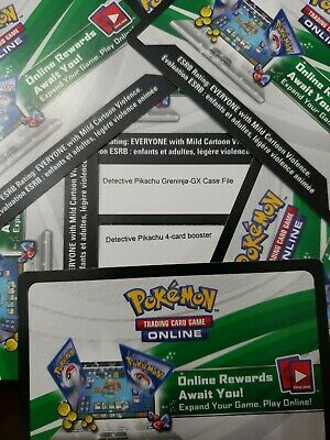 7 Pokemon Detective Pikachu Booster Pack Codes + Greninja Code for Online EMAIL