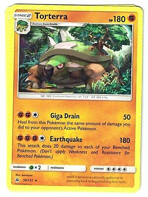 Pokemon TCG Forbidden Light, Torterra 58/131 Rare, NM-M