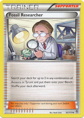 1x - Fossil Researcher - 92/111 - Uncommon NM Pokemon Furious Fists